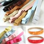 Butterfly Womens Candy Color New Bow Skinny Thin Low Waist Belt