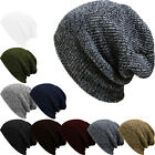 Men's Women's Knit Baggy Beanie Oversize Winter Hat Ski Slouchy Chic Cap Skull