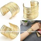 Womens Gold Metal Multilayer Strings Wristband Bangle Cuff Jewelry Bracelet Gift