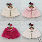 Girls Fur Cape Flower Girl Bolero Tippet Girls Bolero Shrug Bridesmaid 2-12 Y