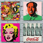 Andy Warhol Art Canvas Prints - Pop Art Campbels Jagger Marilyn Factory