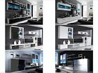 New High Gloss Living Room Furniture Sets - Cabinets with LEDs Floating TV Unit