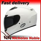 BELL QUALIFIER DLX Solid White Gloss AUTO TINTING VISOR STREET MOTORCYCLE HELMET