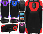 HTC Desire 526 Turbo Layer HYBRID KICKSTAND Rubber Case Phone Cover Accessory