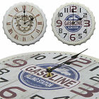 White Shabby Chic Large 33cm Beer Bottle Cap Rustic Wall Clock