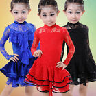 Fashion New Girls Black LAce Latin Salsa Dancing Dress Kids Party Dance Costumes