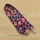 Nylon Neck Strap Lanyard ID Card Phone Keychain Holder Leopard Butterfly 1PC New