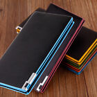 New Men/Women Leather Wallets Bifold Long Clutch Credit Card Holder Purse US