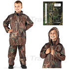 boys  Childrens Camouflage Waterproof Rain Suit Coat & Trousers Pants Jacket Set