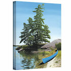 Art Wall ''Canoe on Georgian Bay'' by Ken Kirsch Photographic Print on Canvas