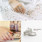 Newest 925 Silver Bling Crown Ring Women Wedding Ring Size 5 6 7 8 9 Gift