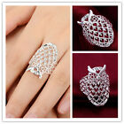 Fashion Men's Women's Silver Plated Fashion Style Owl Ring size 7-8  NEW