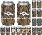 NFL Football Vista Hunting Camo Insulated Can Holder Cooler - 2 Pack- Pick Team! $8.99 USD on eBay