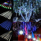 Falling Rain Drop Icicle Snow String LED Garden Tree Light Meteor Xmas Decors