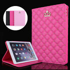 Luxury Crown Leather Smart Case Stand Cover for Apple iPad Mini 1 2 3 & Protetor