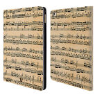 HEAD CASE DESIGNS MUSIC SHEETS LEATHER BOOK WALLET CASE COVER FOR APPLE iPAD