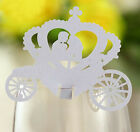 Pearlescent An crown wedding favor mark wine glass cards table name card laser