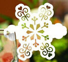 Pearlescent snow wedding favor mark wine glass cards table name card laser cut