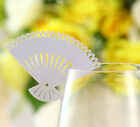 Pearlescent laser Sunflower wedding favor mark wine glass cards table name card