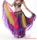 New Belly Dancing Gradient Color 3 Layers Performances Skirt/Dress 19 colors