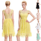 Lace Teens Bridesmaid Prom Ball Gown Short Cocktail Evening Party Dresses 5COLOR