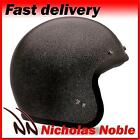 BELL CUSTOM 500 Black Flake OPEN FACE CLASSIC STYLE MOTORCYCLE HELMET