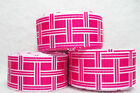 "ST6645V - 7/8"" PINK and WHITE CHECK GROSGRAIN  RIBBON"