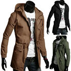 BLACK,ARMY GREEN Men's Hoodies Trench MILITARY Coat Hooded Jacket Parka Outwear