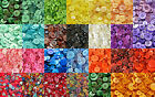 MIXED BUTTONS, ASSORTED WOOD FLORAL PATTERN ARTS AND CRAFTS BUTTON, 30+ COLOURS