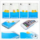 Moving Liquid Water Rubber Duck IPhone4/4s/5/5s/6s Samsung S6 Note3/4 Cover Case