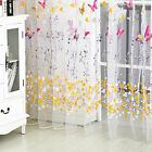 Room Divider Pelmets Butterfly Sheer Curtain Panel Window Balcony Tulle Scarf