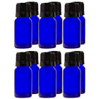 1/3 fl oz (10 ml) Cobalt Blue Glass Bottle w/ Euro Dropper