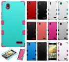 For ZTE WARP ELITE N9518 Rubber IMPACT TUFF HYBRID KICK STAND Case Phone Cover