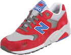 New Balance Men's 580 Red/Blue/White Suede Running Shoes MT580BSR