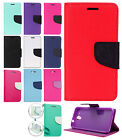 For HTC Desire 520 Leather 2 Tone Wallet Case Pouch Flip Cover +Screen Protector