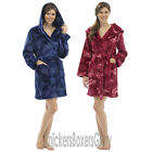 Womens/Ladies Soft Fleece Hooded Butterfly Dressing Gown/Bath Robe Size S, M, L