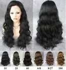 """24"""" light brown dark black long wavy curly front lace synthetic fashion wig.TOP!"""
