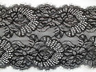 "NEW~Beautiful Black Eyelash Stretch Lace 6.5""/17 cm Lingerie/Costume/Goth/Trim"