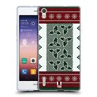 HEAD CASE KNITTED CHRISTMAS SOFT GEL CASE FOR HUAWEI ASCEND P7 LTE