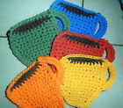 Handmade Crocheted Coffee Cup Shaped Coasters