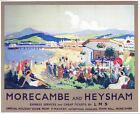 Vintage LMS Morecambe and Heysham Railway Poster A3/A2/A1 Print