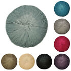 Paoletti Wellesley Chenille Velvet Woven Filled Round Cushion, 40 Cm