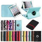 For iPad Mini 1 2 3 Retina 360 Rotating Leather Case Smart Stand Cover+Sleeve