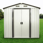 Outdoor Storage Shed Steel Garden Utility Tool Backyard Lawn Building Garage   cheap