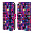 HEAD CASE DESIGNS MOSAIC TILE LEATHER BOOK WALLET CASE FOR APPLE iPOD TOUCH MP3