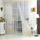 Butterfly Tulle Voile Scarf Divider Sheer Window Curtain Panel Balcony Drapes