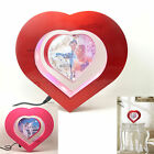 Rotating Magnetic Levitation Floating Photo Picture Frame Heart Form LED Light