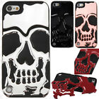 For iPod Touch 5th 6th Gen Skull Hard Hybrid Dual Layer Rubber Case Phone Cover