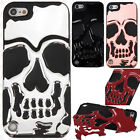 iPod Touch 5th 6th Gen Skull Hard Hybrid Dual Layer Rubber Cover +Screen Guard