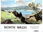 Vintage British Rail North Wales Conway Valley Railway Poster A3 Print
